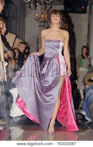 Model walking at a fashion show