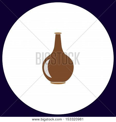 Amphora Simple vector button. Illustration symbol. Color flat icon