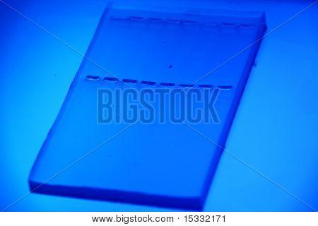 empty agarose gel