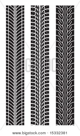 repeating tire tracks