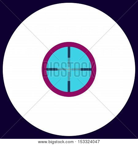 Crosshair Simple vector button. Illustration symbol. Color flat icon