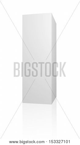 White 3d box. Blank 3d box over white background