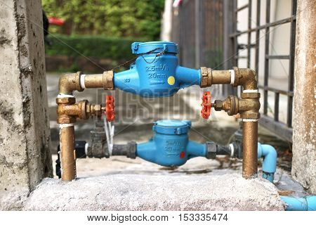 Plumbing Water Revenue Meter and Pipe for Residential