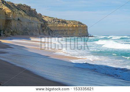 Beach Down Gibsons Steps In The Great Ocean Road (australia)