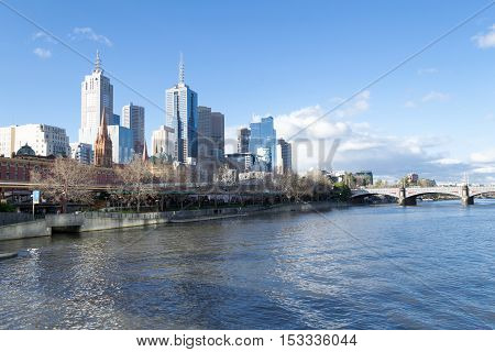 By The Yarra River In Melbourne