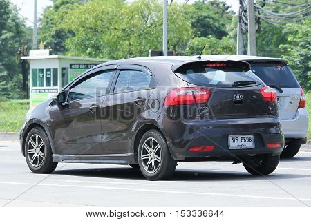 CHIANGMAI THAILAND - OCTOBER 8 2016: Private car Kia Rio Product of Korea. On road no.1001 8 km from Chiangmai Business Area.