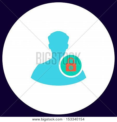 authenticate Simple vector button. Illustration symbol. Color flat icon