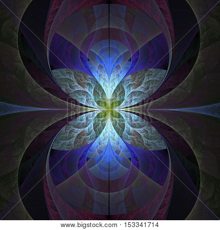 Abstract dark fractal background computer generated image