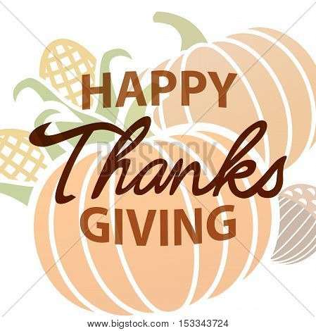 Happy Thanksgiving Autumn Background with Harvest Concept