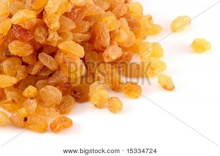 raisins (sultana) on white