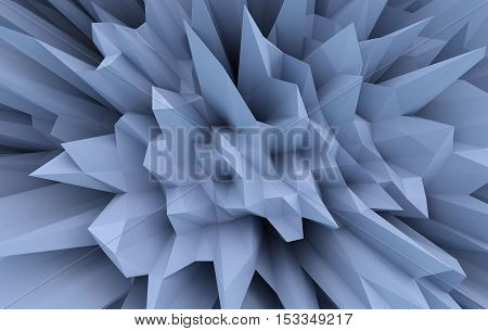 A 3D generated abstract sharp flowerlike pattern