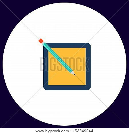 subscription Simple vector button. Illustration symbol. Color flat icon