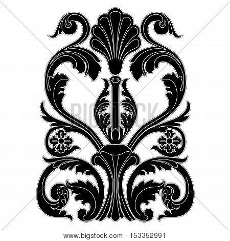 Vintage pattern, baroque pattern, frame pattern, scroll ornament pattern, engraving pattern, border pattern, floral patttern, retro pattern. vector