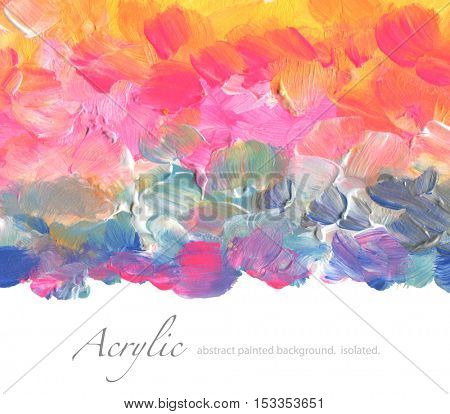 Abstract acrylic and watercolor painted background. Texture paper. Isolated