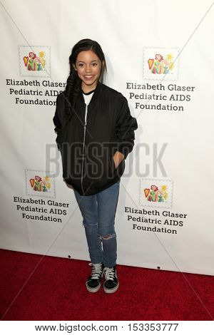 LOS ANGELES - OCT 23:  Jenna Ortega at the Elizabeth Glaser Pediatric AIDS Foundation A Time For Heroes Event at Smashbox Studios on October 23, 2016 in Culver City, CA