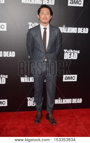 LOS ANGELES - OCT 23:  Steven Yeun at the AMC's Special Edition of