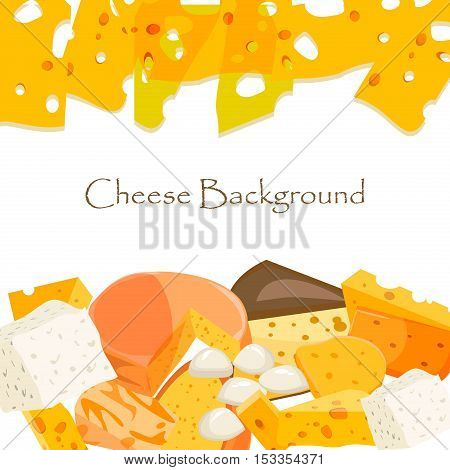 Various types of cheese healthy holland triangle edam vector illustration. Cheese freshness gourmet slice culinary piece. Cheese snack dairy food cheese appetizer organic yellow product breakfast