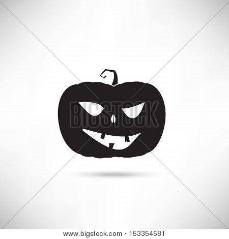 Pumpkin Black Silhouette For Haloween Design. EPS10 vector.