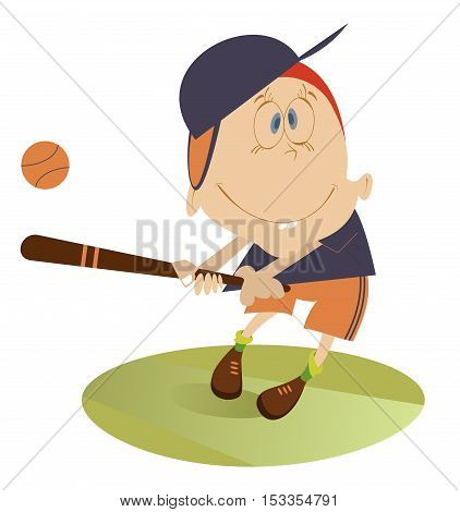 Baseball player. Baseball player hits a ball