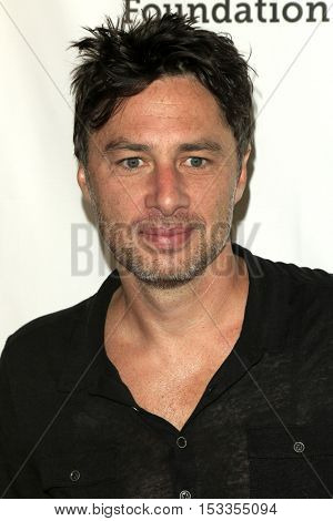 LOS ANGELES - OCT 23:  Zach Braff at the Elizabeth Glaser Pediatric AIDS Foundation A Time For Heroes Event at Smashbox Studios on October 23, 2016 in Culver City, CA