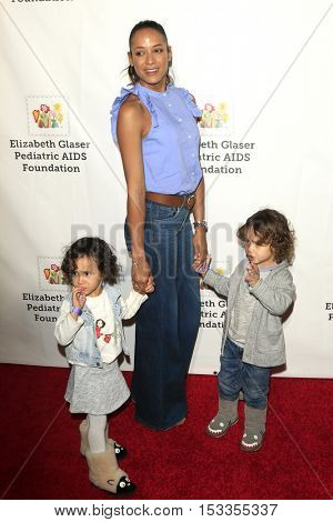 LOS ANGELES - OCT 23:  Gaia Jissel Ramirez Land, Dania Ramirez, John Aether Ramirez Land at the  A Time For Heroes Event at Smashbox Studios on October 23, 2016 in Culver City, CA