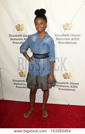 LOS ANGELES - OCT 23:  Skai Jackson at the Elizabeth Glaser Pediatric AIDS Foundation A Time For Heroes Event at Smashbox Studios on October 23, 2016 in Culver City, CA