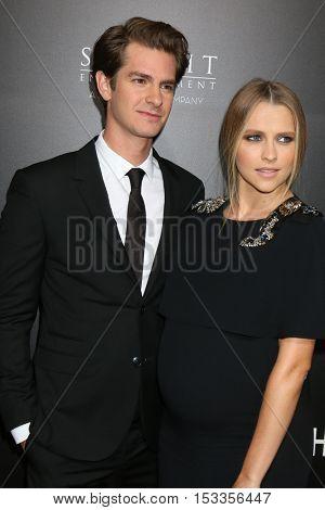 LOS ANGELES - OCT 24:  Andrew Garfield, Teresa Palmer at the