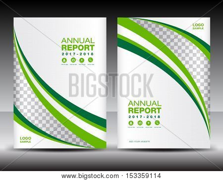Green and white Cover template, cover annual report , cover design ,  business brochure flyer , magazine covers, book cover, presentation