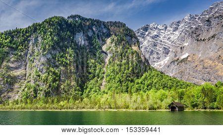 Beautiful Lake Konigssee In The German Alps