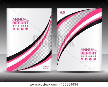 Pink and white Cover template, cover annual report, cover design , business, brochure flyer, magazine covers, book cover,  presentation