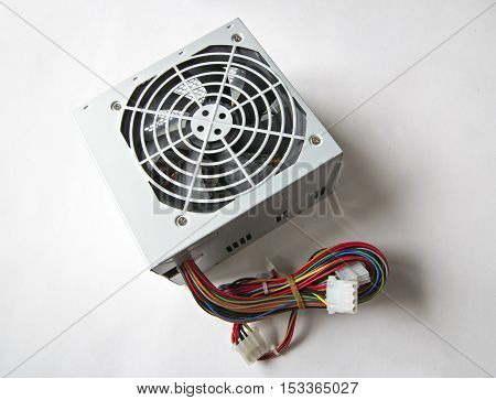 Psu. Power Supply Unit On The White Background