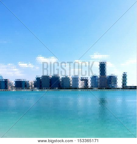 Cityscape abstract geometric background