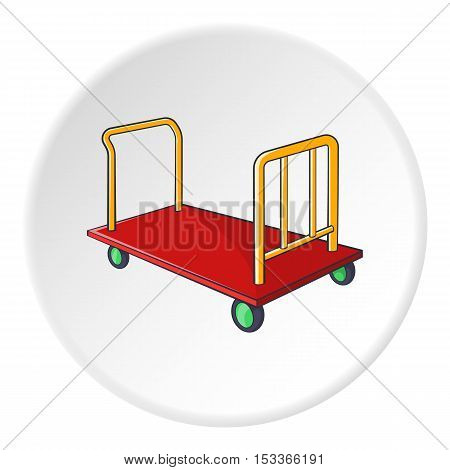 Baggage cart icon. Cartoon illustration of baggage cart vector icon for web