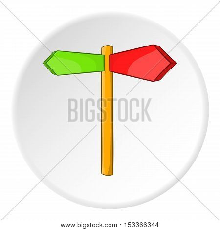 Direction sign icon. Cartoon illustration of direction sign icon vector icon for web
