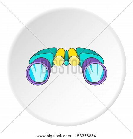 Binocular icon. Cartoon illustration of binocular vector icon for web