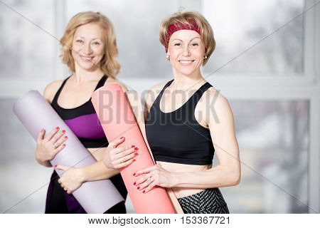 Portrait Of Two Senior Athletic Women