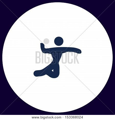Volleyball Simple vector button. Illustration symbol. Color flat icon