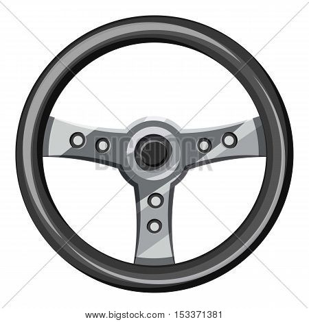 Steering wheel icon. Isometric 3d illustration of steering wheel vector icon for web
