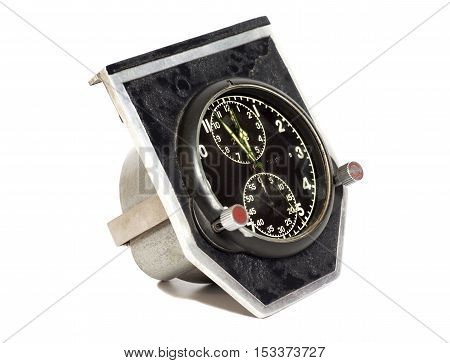 Aviation airplane hours isolated on a white