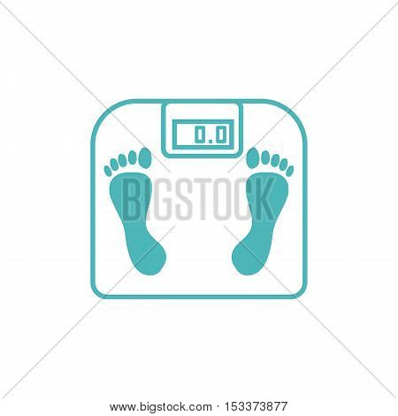 Stylized Icon Of The With Bathroom Scales