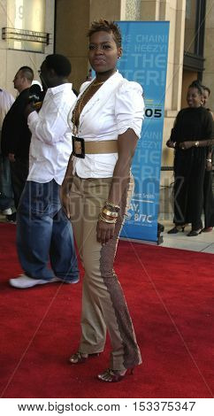 Fantasia Barrino at the 2005 BET Awards held at the Kodak Theater in Hollywood, USA on June 28, 2005.