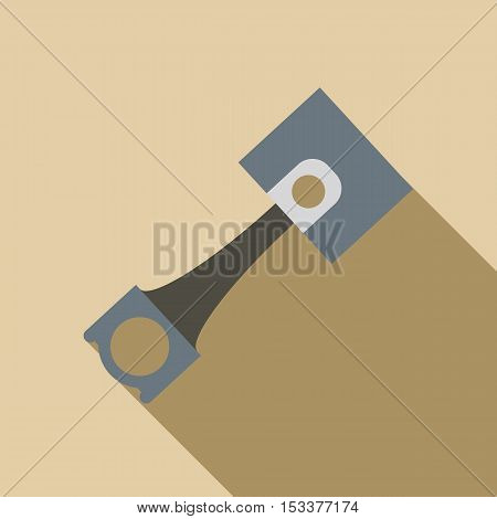 Piston icon. Flat illustration of piston vector icon for web isolated on beige background