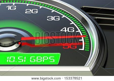 Wireless network speed evolution concept 3D rendering