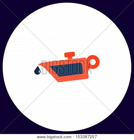 lube oil Simple vector button. Illustration symbol. Color flat icon