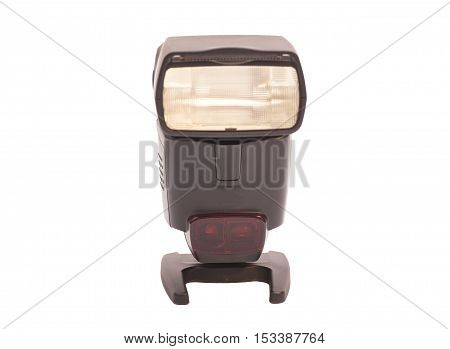 Photo camera flash isolated on a white