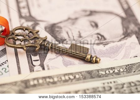 Key to success on a dollar banknotes