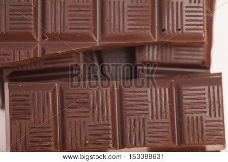 Chocolate  brown broken bars endorphin antioxidant background poster