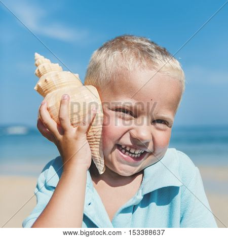 Boy Child Kid Happiness Adolescence Playful Concept