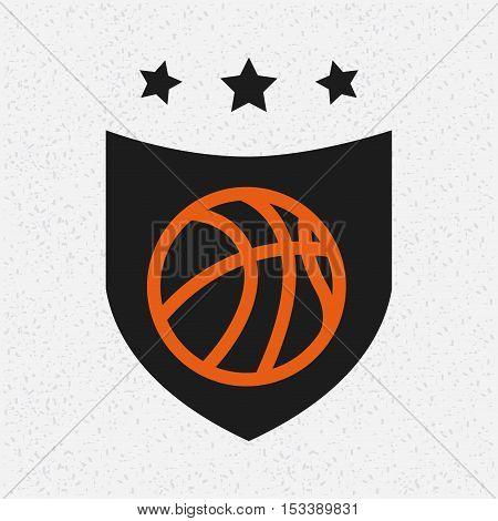 basketball league emblem classic vector illustration design poster