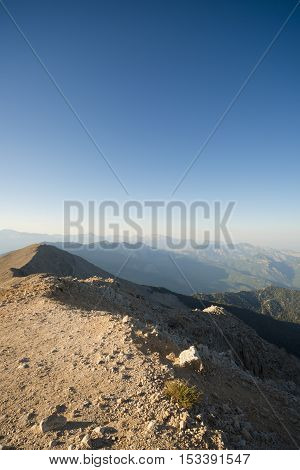 The panoramic view from Olympos Mountain - Tahtali, Kemer, Antalya Province, Turkey